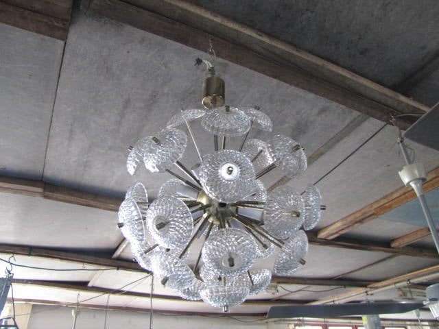 Vintage RETRO 1960s midcentury Danish pendant light #1924 round