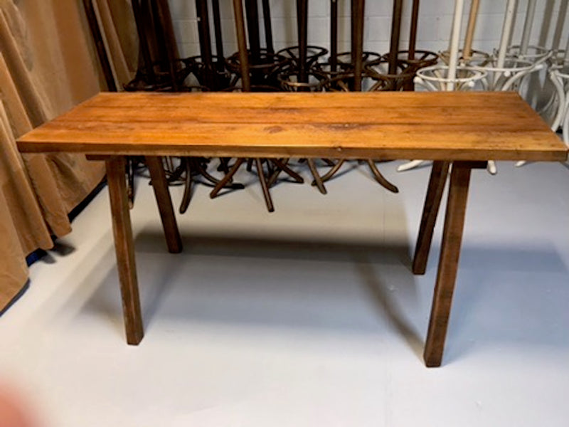 Vintage industrial European wooden hallway table console #1968