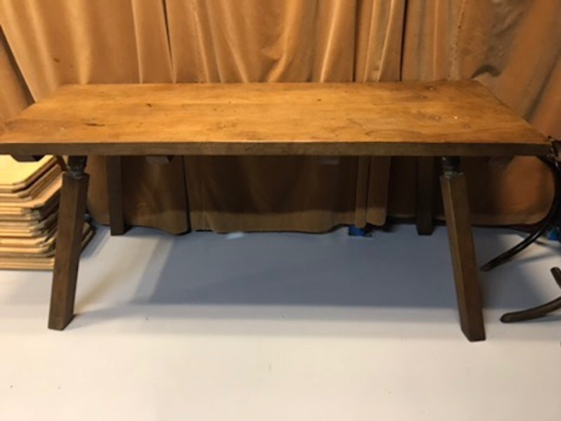 Vintage industrial European wooden hallway table console #1969