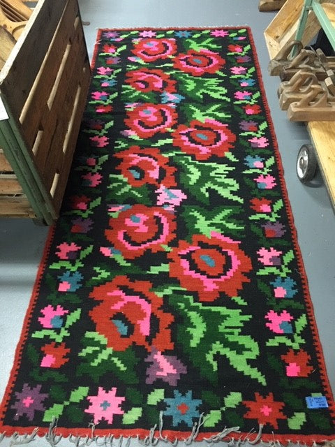 Vintage European Gypsy Carpet  #B3276 Byron Warehouse
