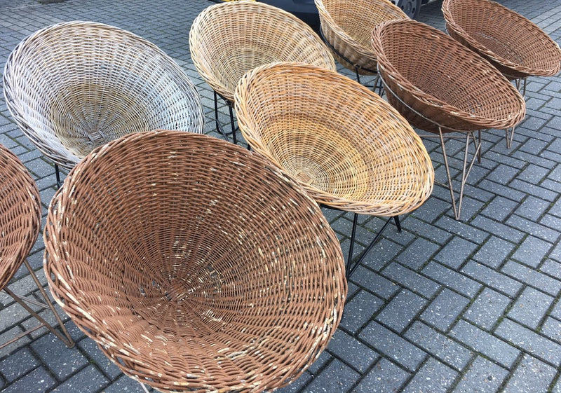 Vintage industrial Mid Century Danish Basket chair #2040