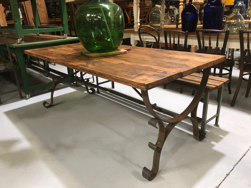 Vintage industrial European kitchen  dining table  1.9 long #2207