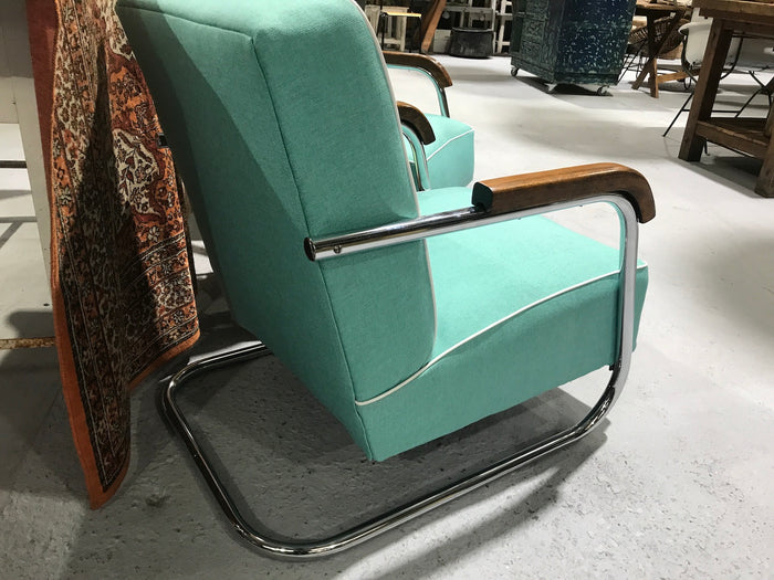 Vintage industrial 1935 Design chairs by Mucke Melder  sold as a pair #2222