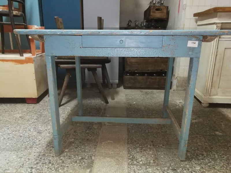 Vintage industrial European kitchen dining table #2237