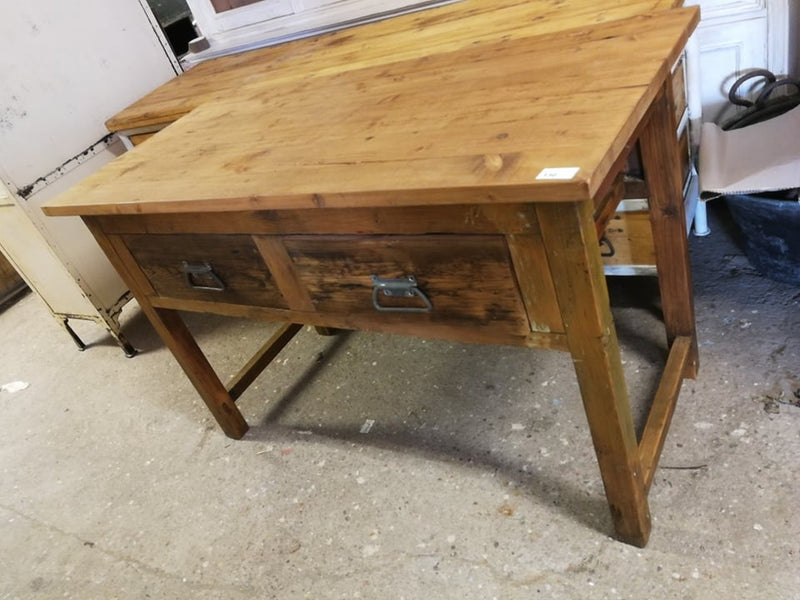 Vintage industrial European kitchen dining table 1.5mt #2239