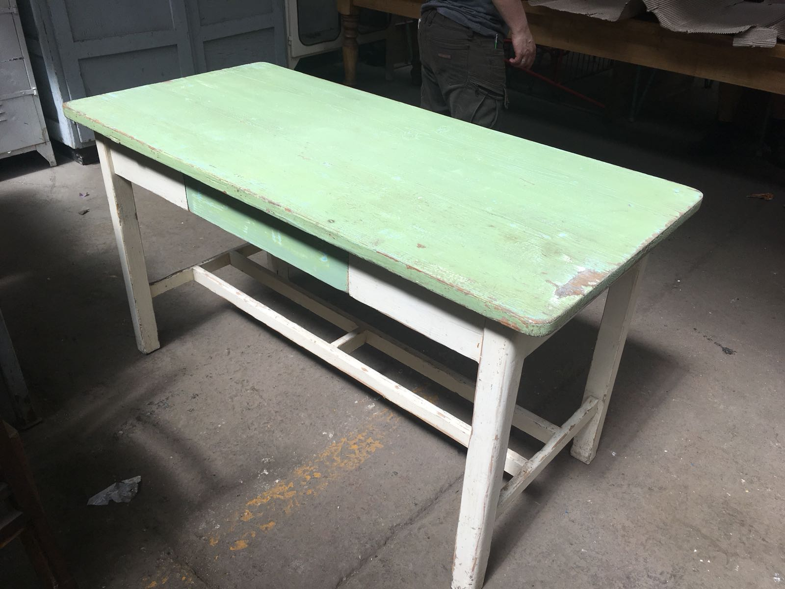 Vintage industrial European FARM kitchen dining table  #2273 Byron Warehouse