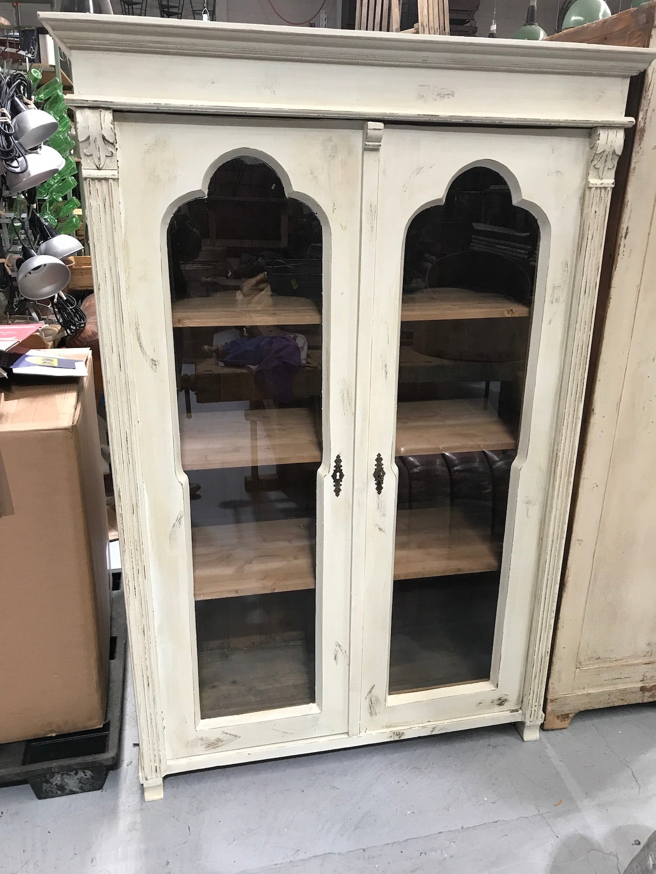 Vintage industrial European  kitchen cabinet  #2289 in Byron