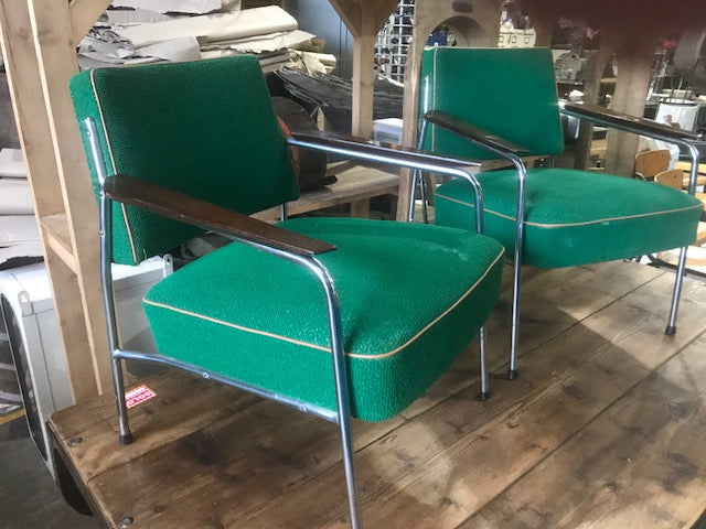 Vintage industrial 1930s Design chairs by Miroslav Navratil  sold as set #2304