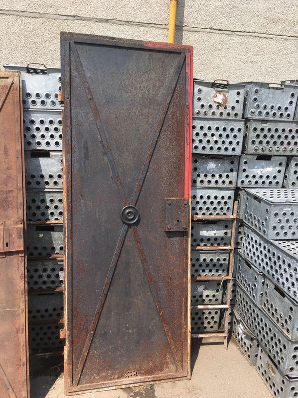 Vintage industrial iron factory door #2312