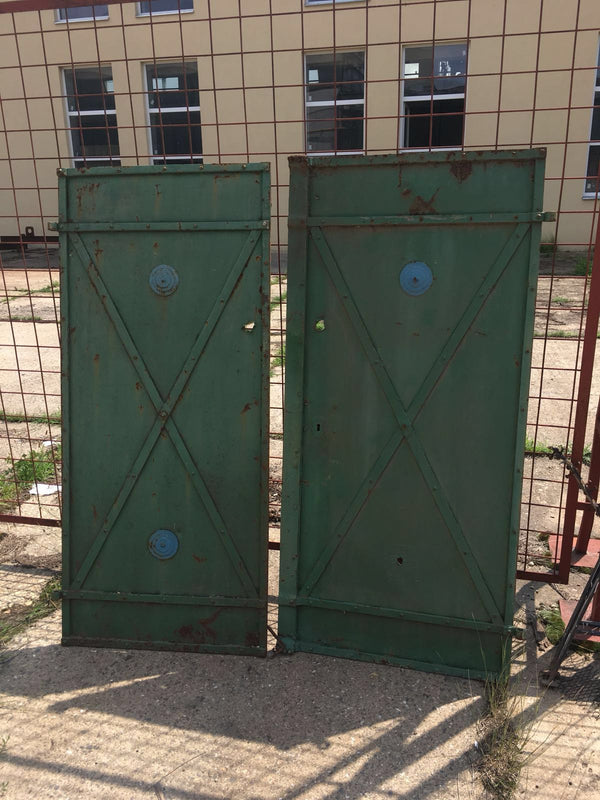 Vintage industrial iron factory door #2313