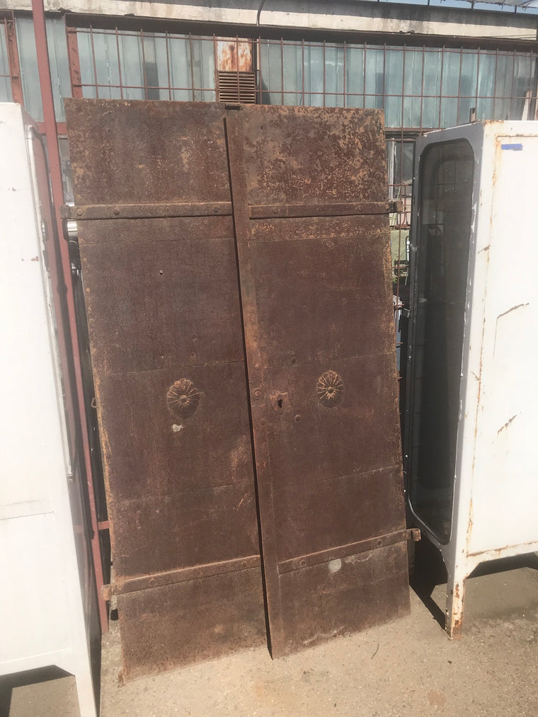 Vintage industrial iron factory doors #2315