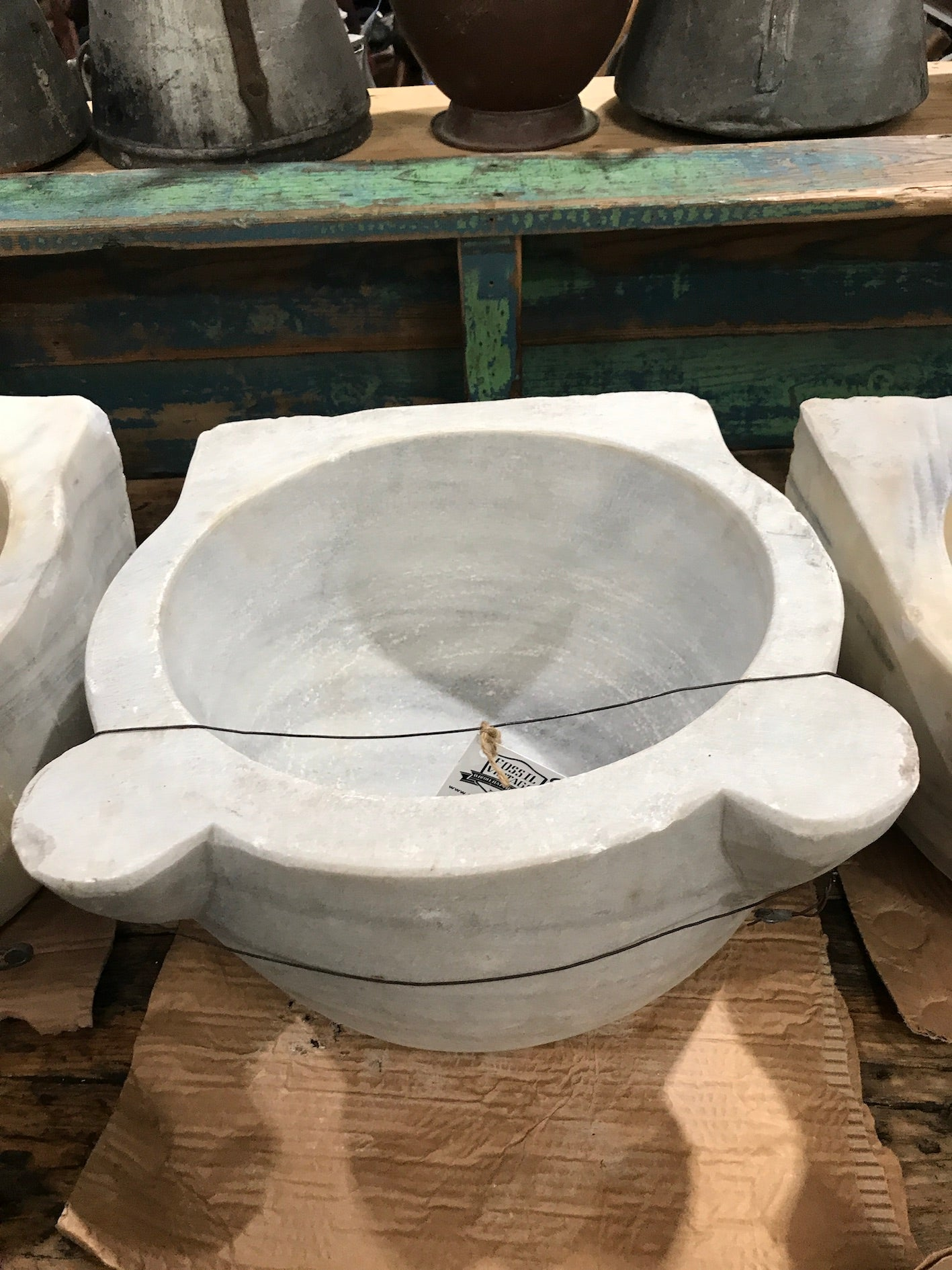 Vintage industrial Turkish Marble sink #2343/c