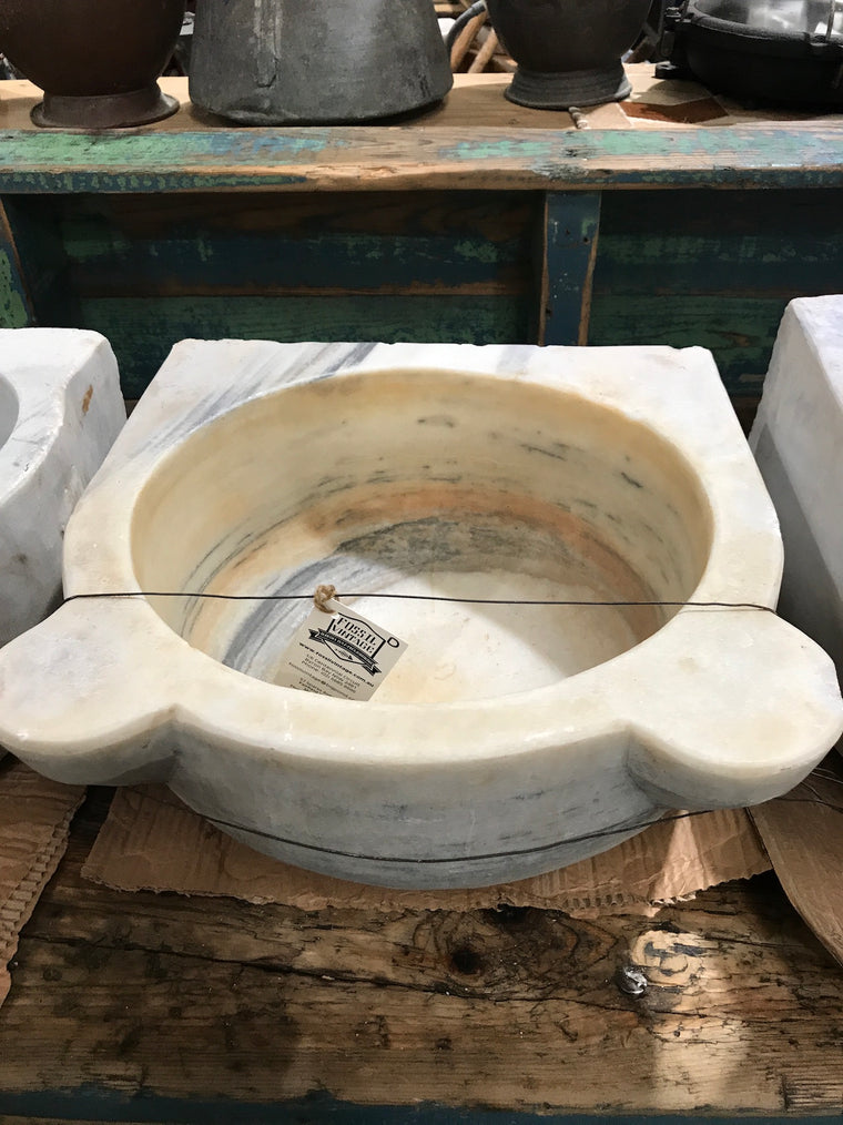 Vintage industrial Turkish Marble sink #2343/d