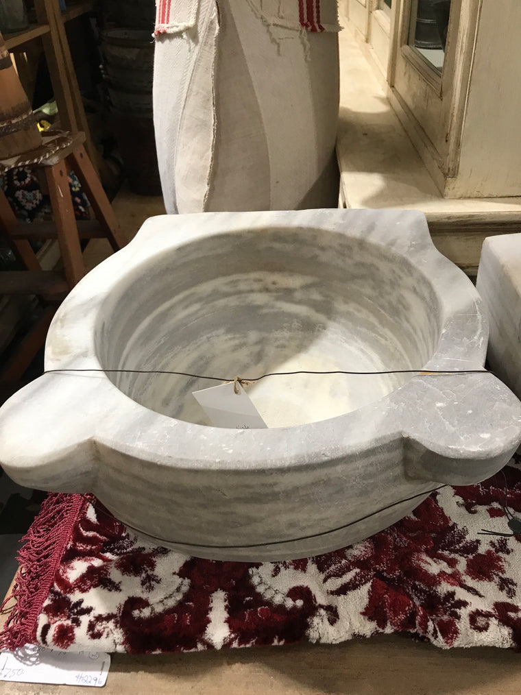 Copy of Vintage industrial Turkish Marble sink #2343/g