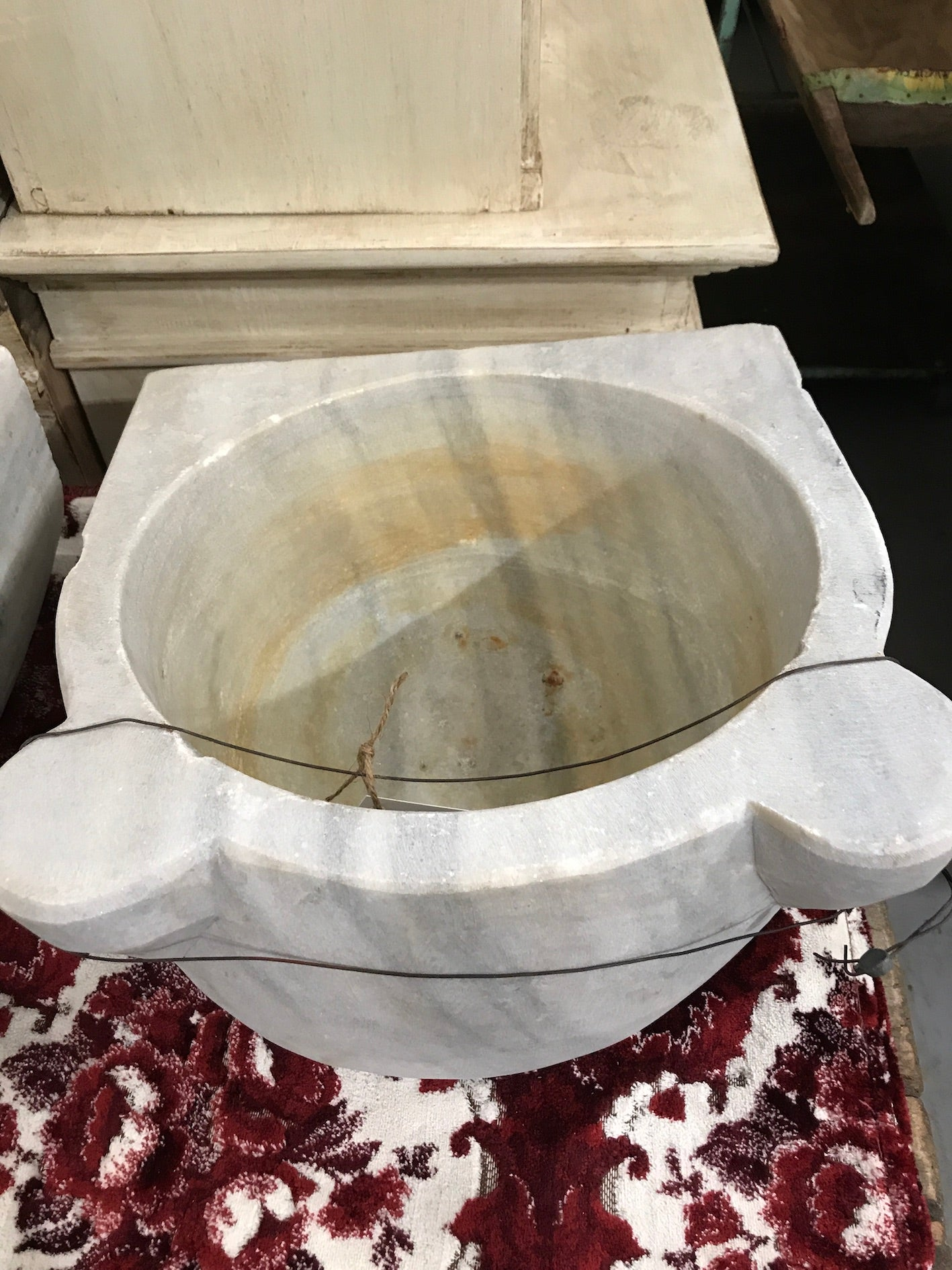 Vintage industrial Turkish Marble sink #2343/h
