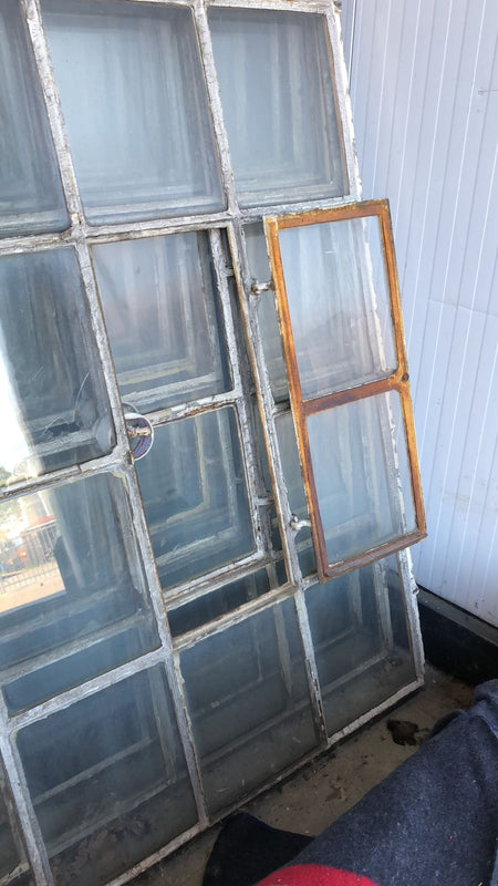 Vintage industrial European cast iron  windows 1.8mt #2359