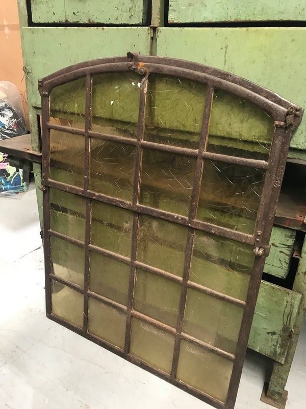 Vintage industrial European cast iron  window #2367