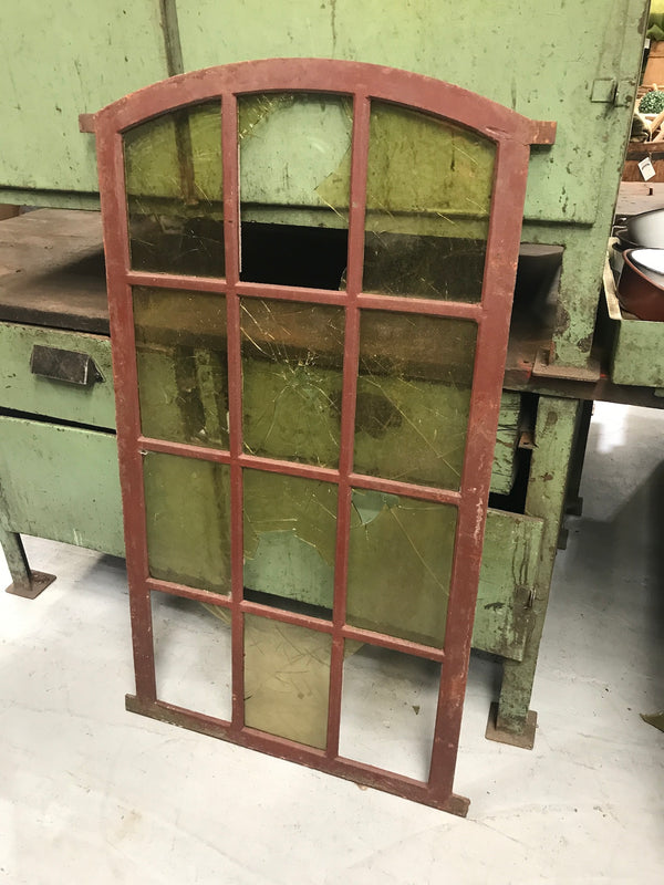 Vintage industrial European cast iron  window # 2390