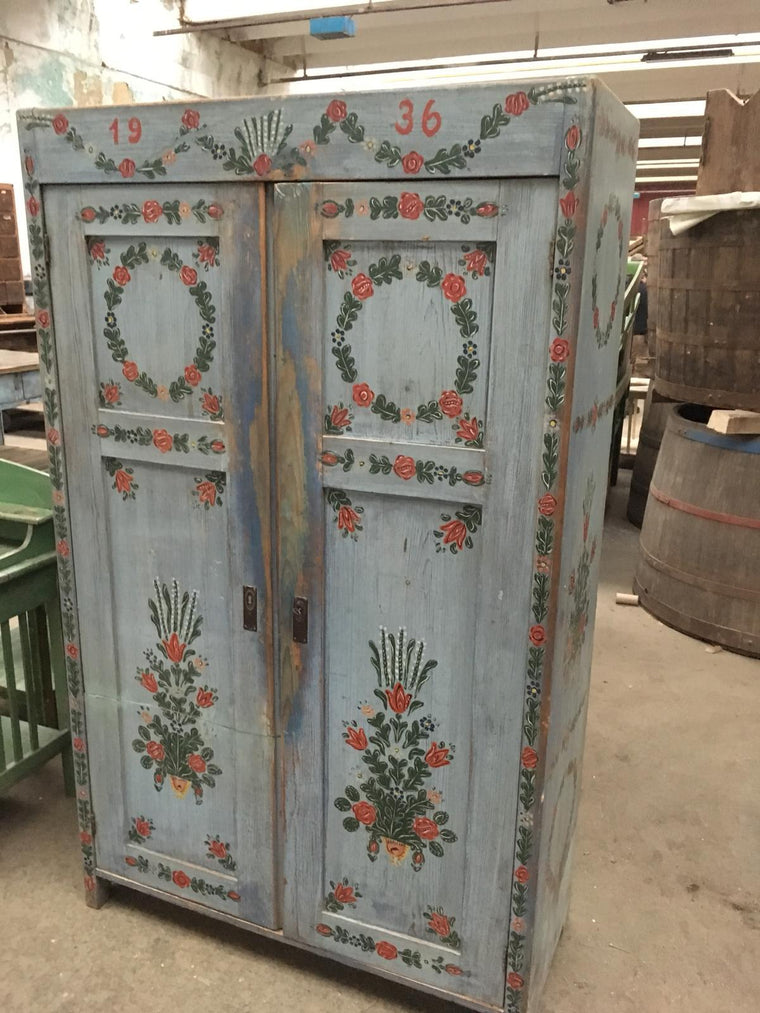 Vintage  European  cabinet dated 1936 #2394