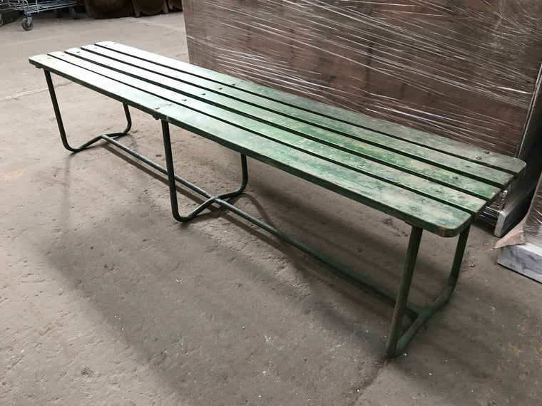 Vintage European  Garden bench seat  # 2419 end of may containe