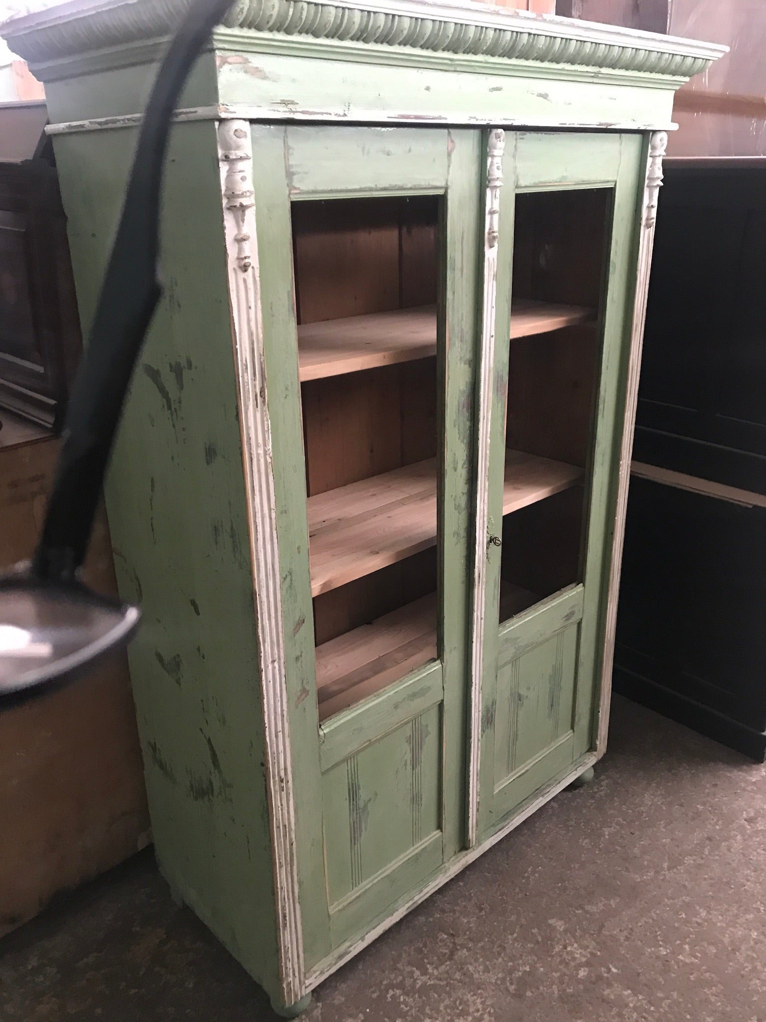 Vintage  European  kitchen hutch cabinet  #2435 coming in October container