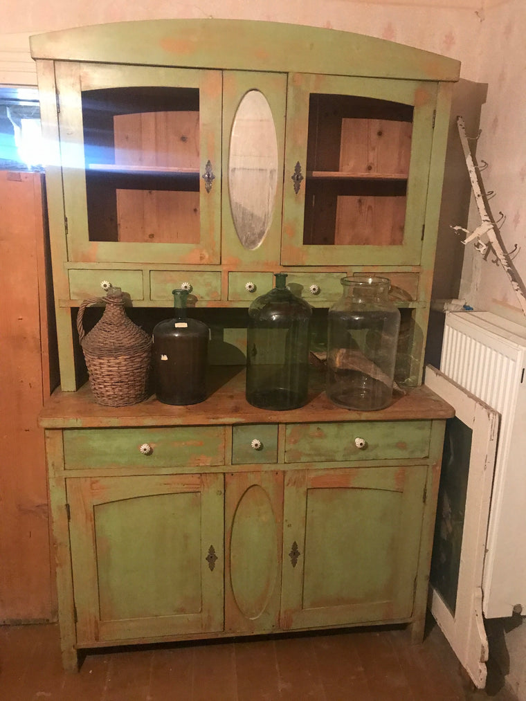 Vintage  dutch wooden kitchen cabinet #2484.coming at the end of may container