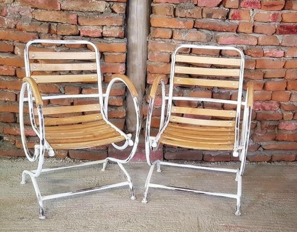 Vintage style French Garden cafe bistro chairs  # 2495