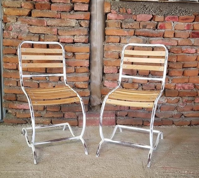 Vintage style French Garden cafe bistro chairs  # 2496