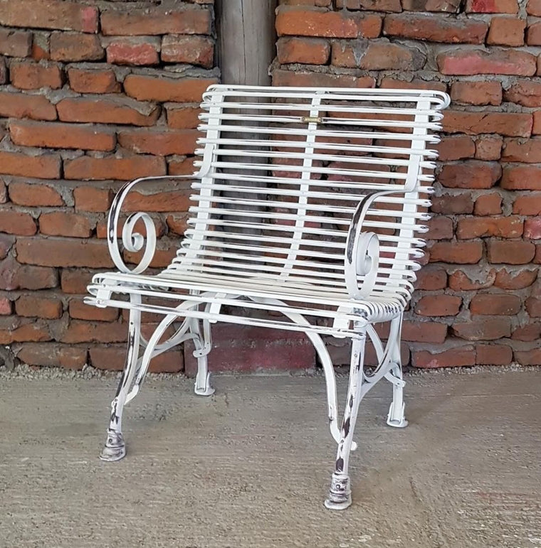 Vintage style French wrought iron Garden cafe bistro chairs  # 2499