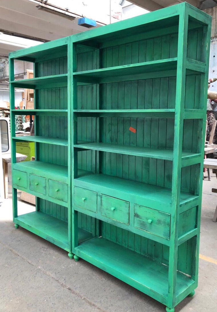 Vintage  European  pharmacy wall unit  #2572 Green