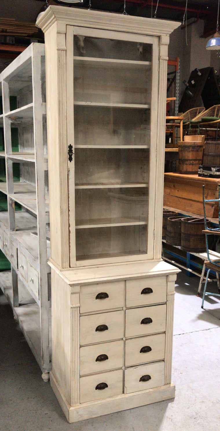 Vintage Dutch pharmacy cabinet  #2577
