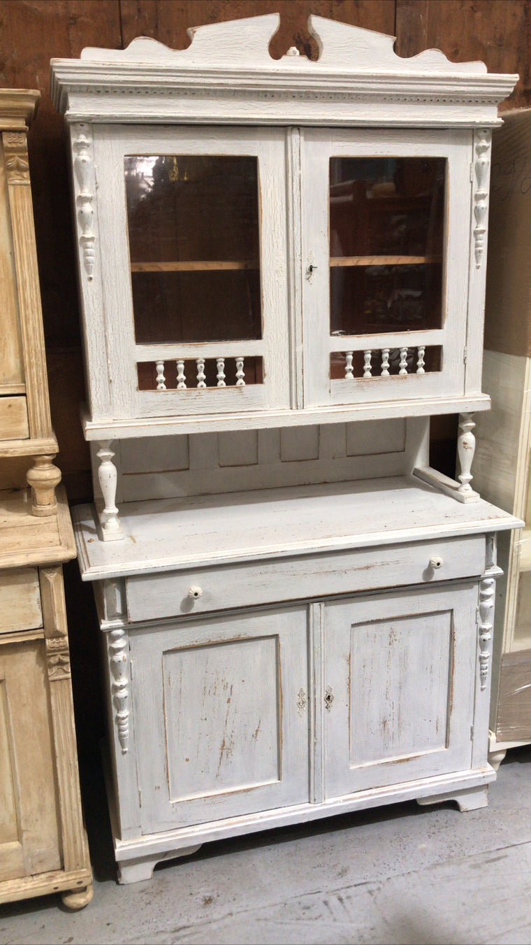 Vintage  European  kitchen hutch cabinet  #2635