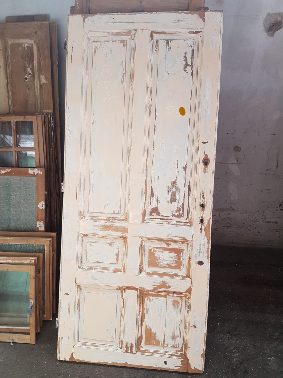 Vintage French wooden house door #2565/27