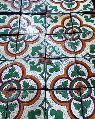 Vintage old Spanish tiles sold by sq meter #2768