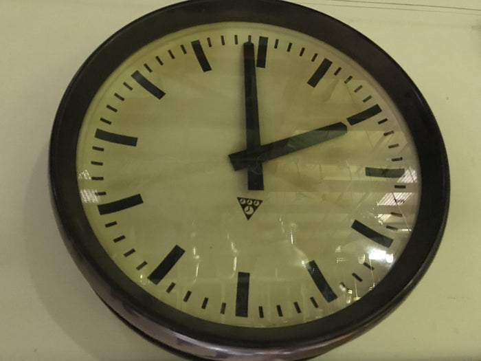 Vintage industrial Czech station clocks Bakelite #1410