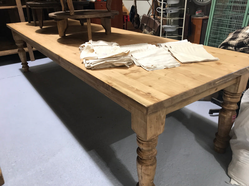 Vintage Industrial European Kitchen Farmhouse Dining Table