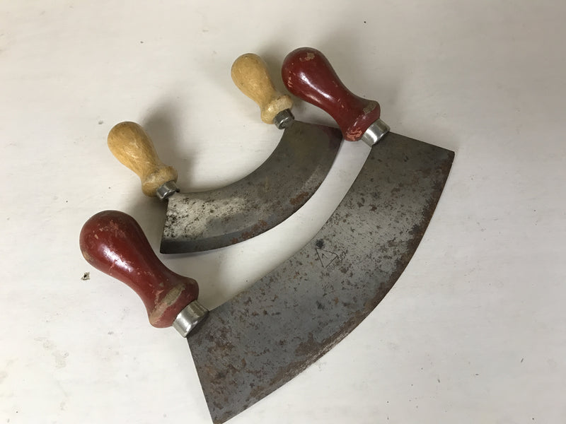 Vintage industrial French herb knives