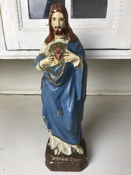 Vintage industrial Hungarian religious statues