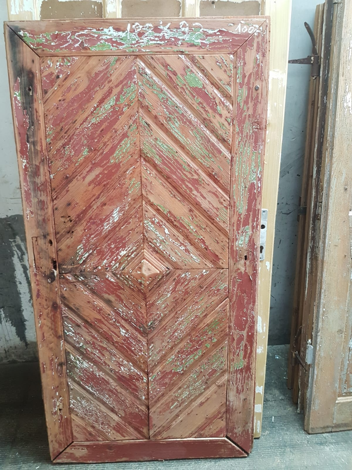 Vintage French wooden house door #2565/35