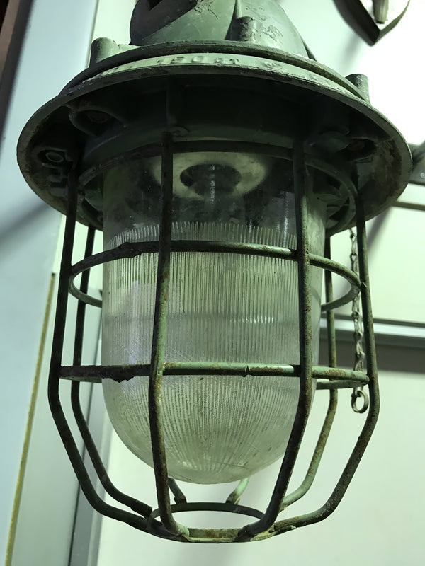 Vintage industrial Ukraine warehouse lights - colour bully #966
