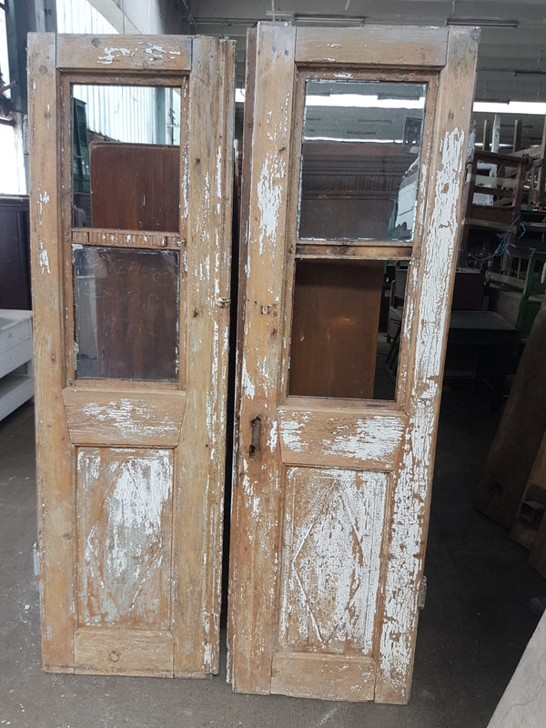 Vintage French wooden house door #2565/36
