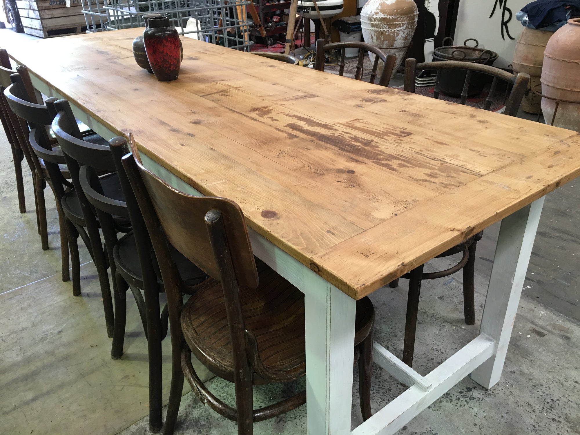 Vintage Industrial French Kitchen Tables #1568 ...