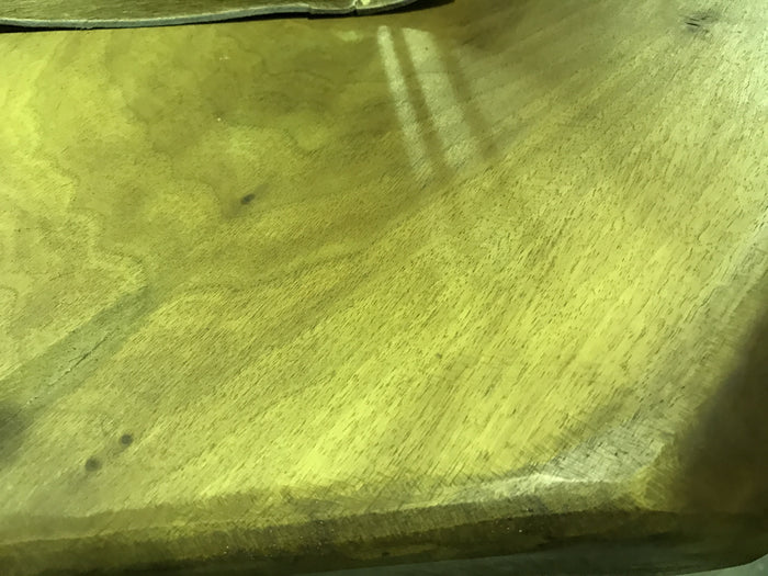 Vintage industrial French wooden farmhouse chestnut table #1397