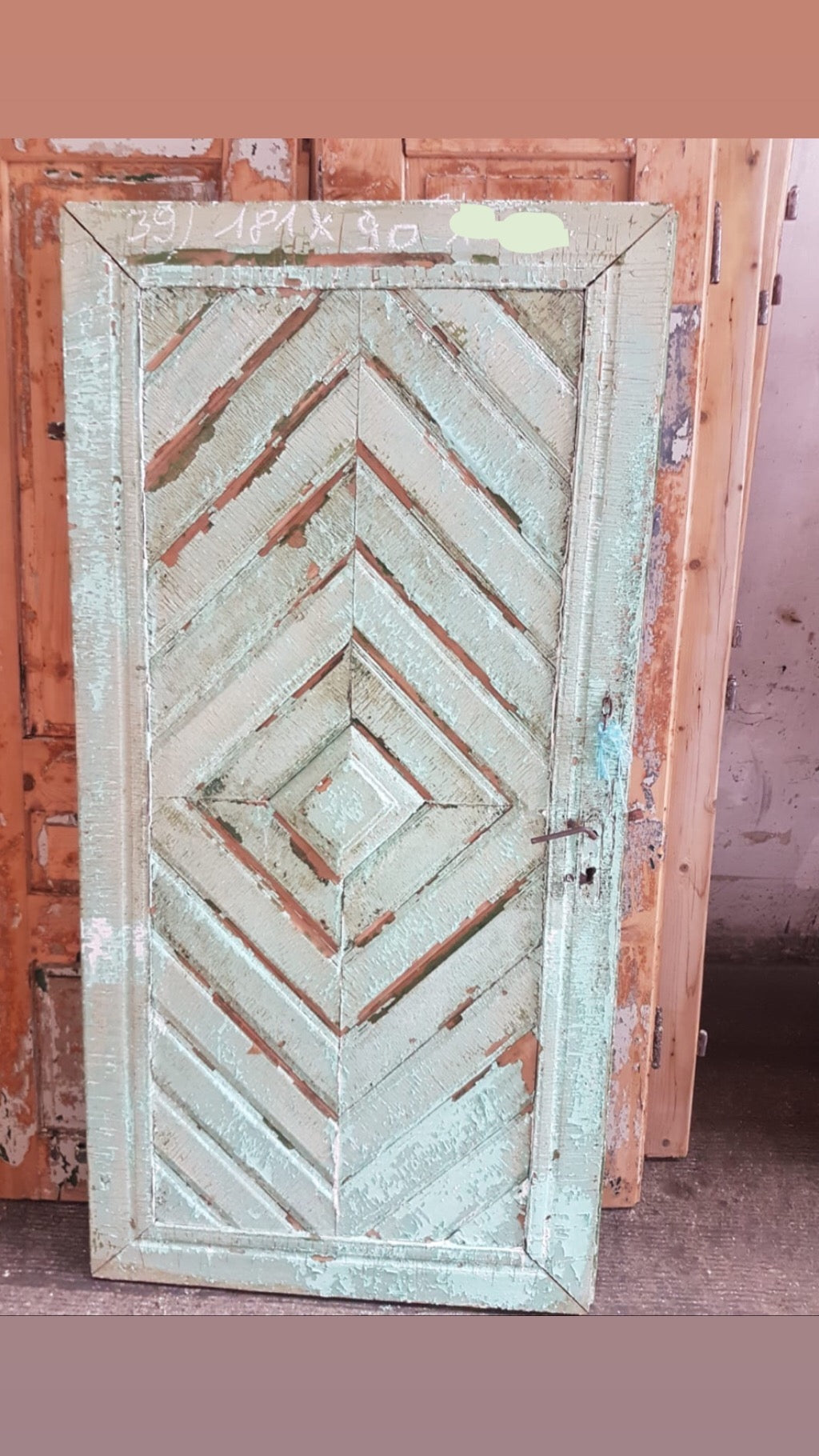 Vintage French wooden house door #2565/39