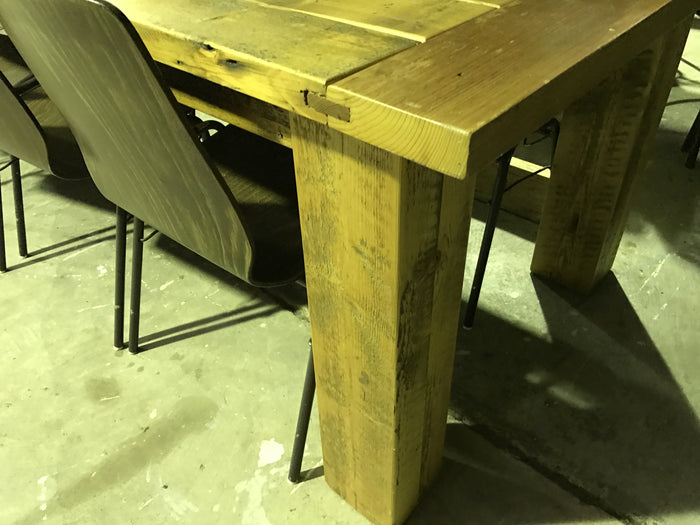 Vintage industrial French industrial kitchen table 3.8 meters