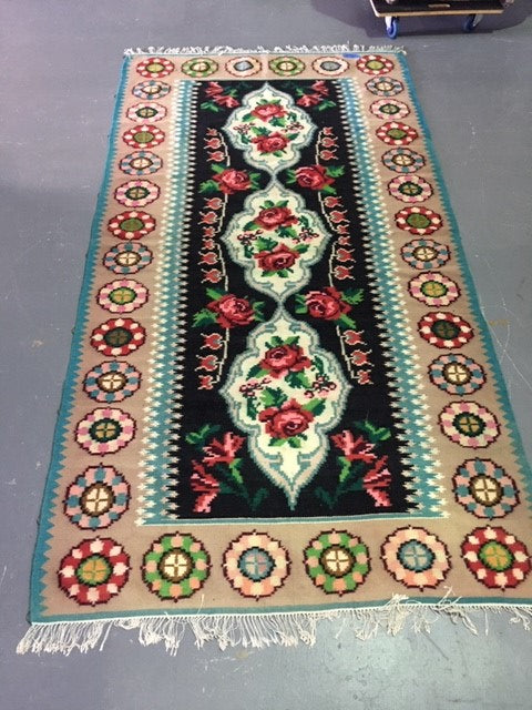 Vintage European Gypsy Carpet  #B3274 Byron Warehouse