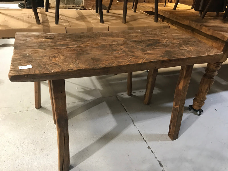 Vintage industrial European wooden hallway table console #2168/3