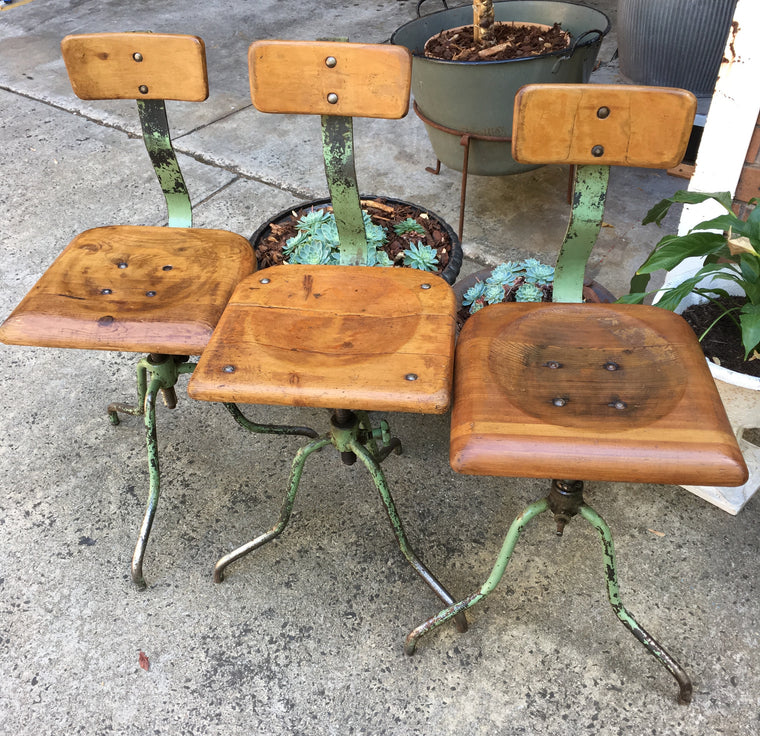 Vintage industrial Atelier chairs #1552