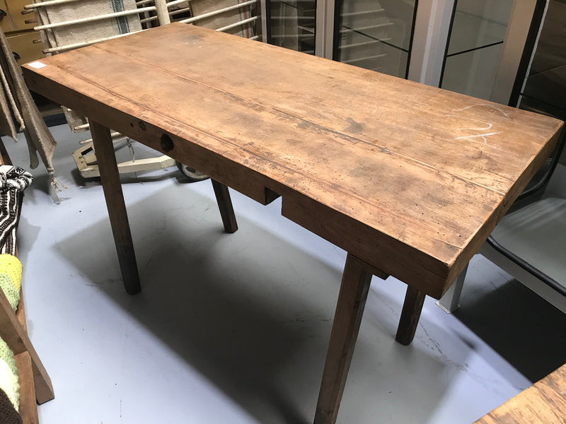 Vintage industrial European wooden hallway table console #2169/4