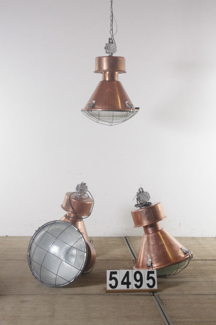 Vintage industrial CZECH warehouse lights #2193/5495
